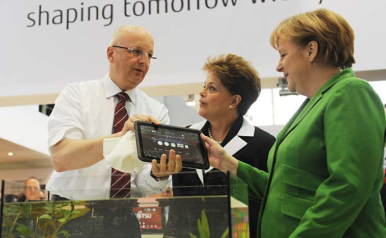 Angela Merkel at CeBIT