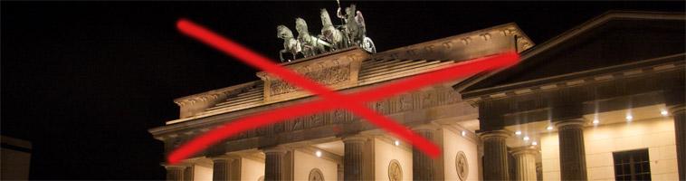 (Vi har inget emot Brandenburger Tor, men vi kommer inte att hjälpa dig hitta dit.)