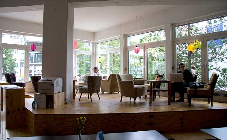 The café in Betahaus Berlin at Moritzplatz. Photo: Berlinow
