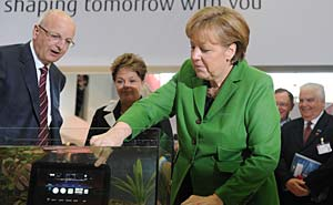 Angela Merkel at CeBIT 2012 in Hannover. Photo: CeBIT