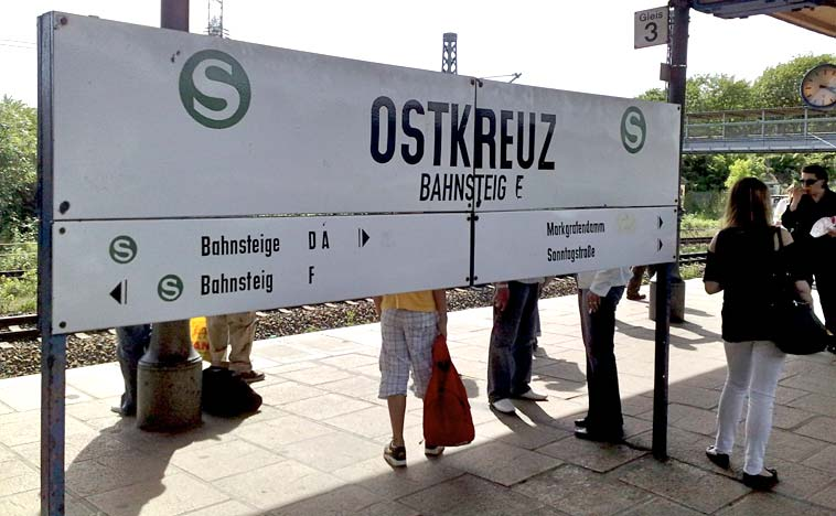 Ostkreuz S-bahn station. Photo: Berlinow