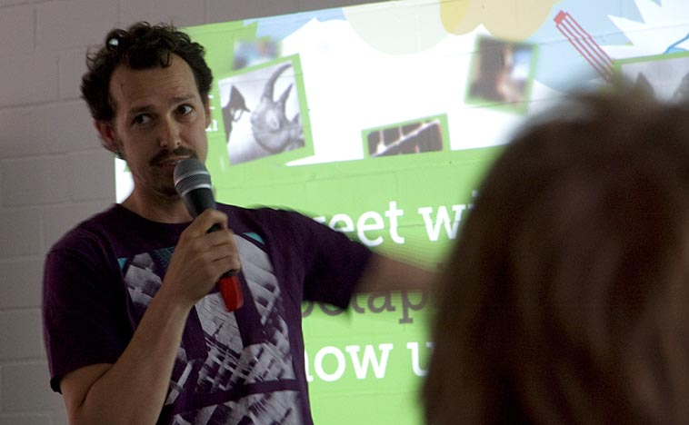 Justin McMurray, Somewhere founder, at Betapitch. Photo: Berlinow