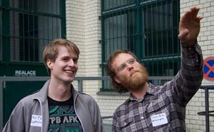 Flattr's Per Thulin and Simon Gate during their visit to Berlin. Photo: Berlinow
