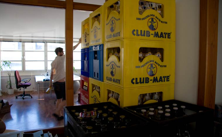 Club Mate is the drink of choice at Co.Up. Photo: Berlinow